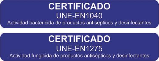 certificado toallitas covid
