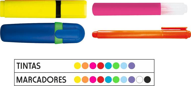 Marcadores fluorescentes personalizados